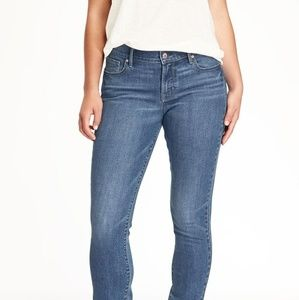 Long Mid-Rise Curvy Straight Jeans by Old Navy
